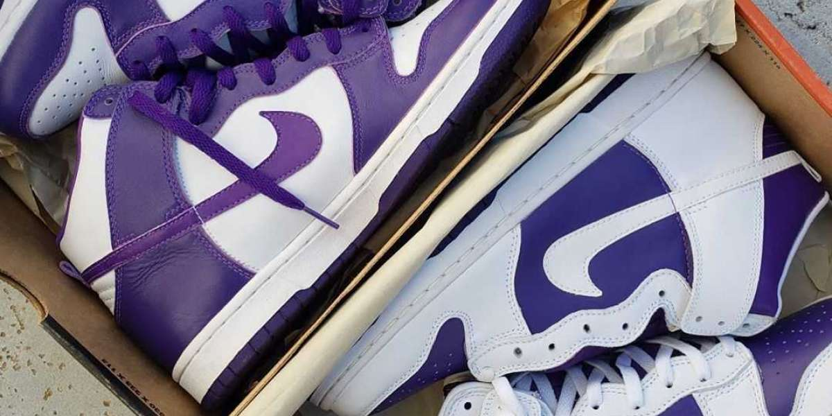 Hot Selling Nike Dunk High WMNS Varsity Purple