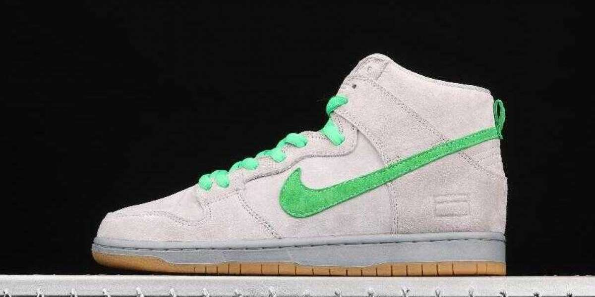 Don't Missed the Nike Dunk High PRM SB Metallic Silver Hyper Verde Shoes