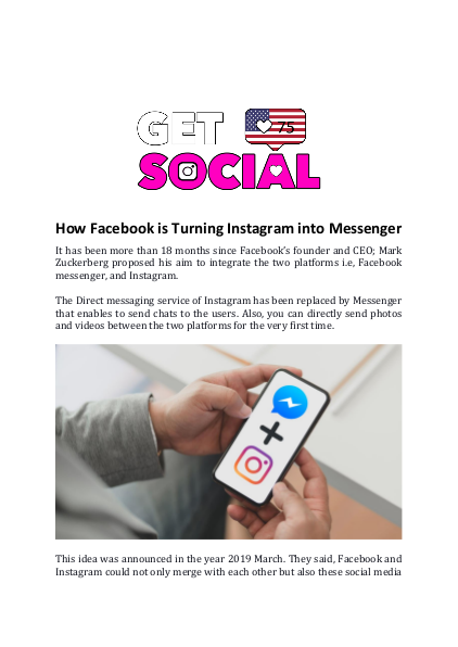 How Facebook is Turning Instagram into Messenger